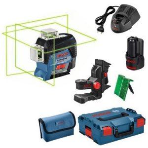 تراز لیزری نور سبز سه لنز بوش مدل GLL3-80CG L-Boxx